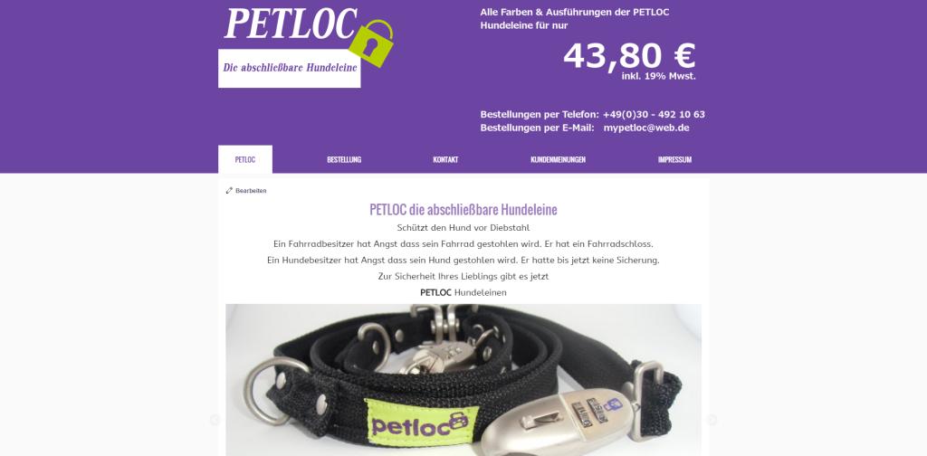 PETLOC - die abschließbare Hundeleine